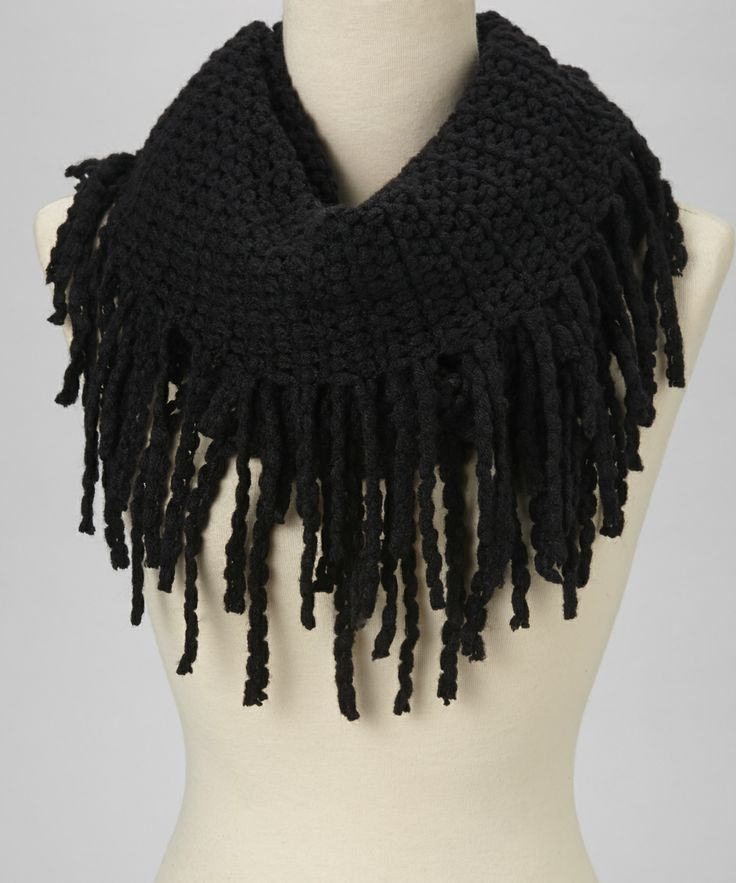 black fringe infinity scarf justjamie my style