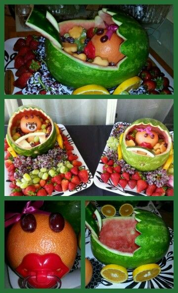 baby shower watermelon baby carriages baby shower pinterest