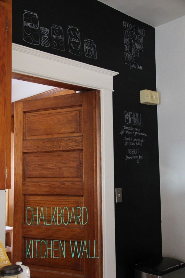 Chalkboard Kitchen Wall Home Pinterest