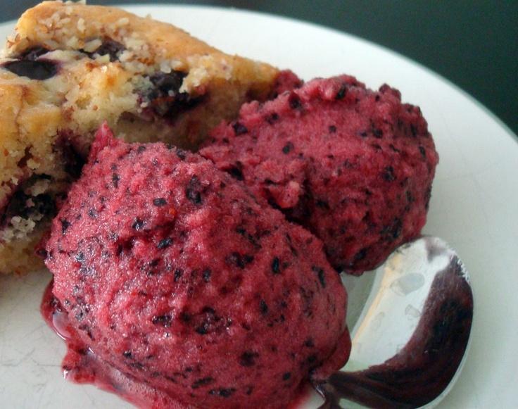 blueberry sorbet #recipe | Cool Treats | Pinterest