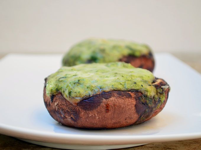 Creamed Spinach Stuffed #Portabella #Mushrooms...filled with cream ...