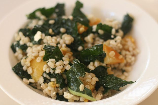 Week of Menus: Barley and Kale Salad with Golden Beets and Feta: The ...