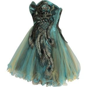 LOVE this peacock dress!