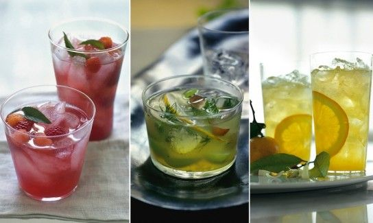 Cocktails for Spring Entertaining - Minted Hibiscus and Raspberry ...