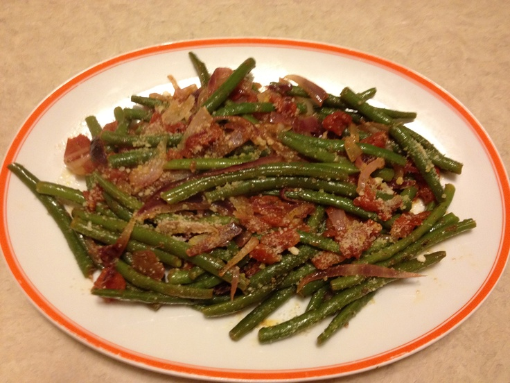 Green Bean & Mater Salad - Cook Green beans, Sauté red onion and ...