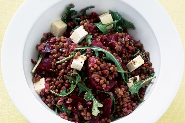Warm beetroot and lentil salad | Delicious & Delectable | Pinterest