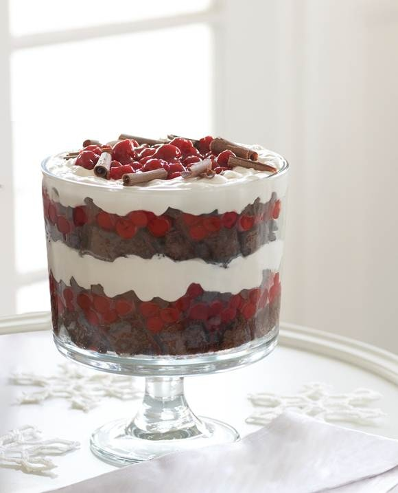 Our Black Forest Trifle is the perfect color palette for a holiday ...