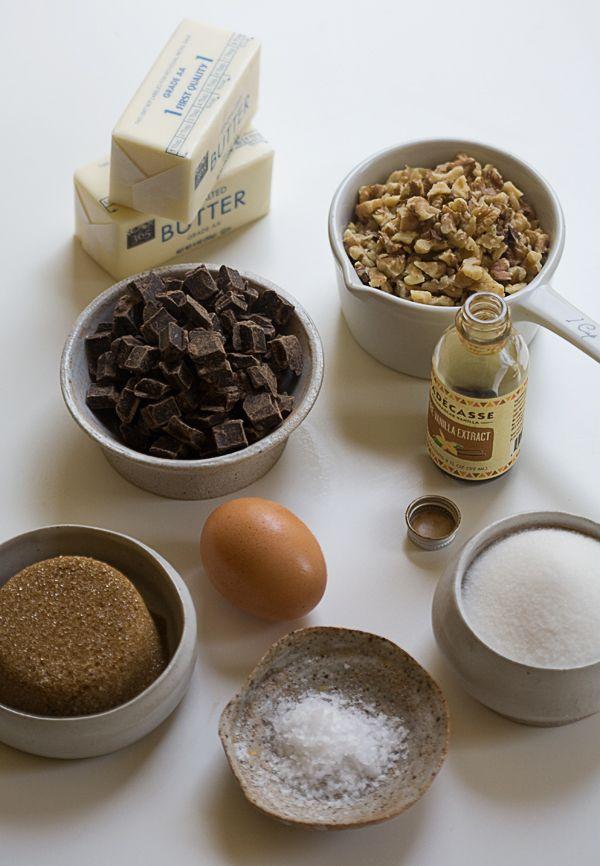Dark Chocolate Chunk and Walnut Skillet Cookie   www.acozykitchen.com