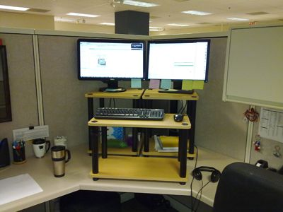 Stand Up Desk In Cubicle Space Crafty Wish List Pinterest