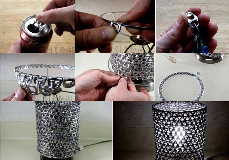 Diy pop can tabs lampshade crafts pinterest - Lustige bastelideen ...