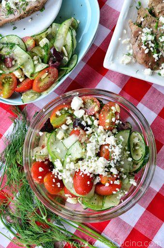 Greek-Style Cucumber, Tomato, and Feta Salad | Recipe