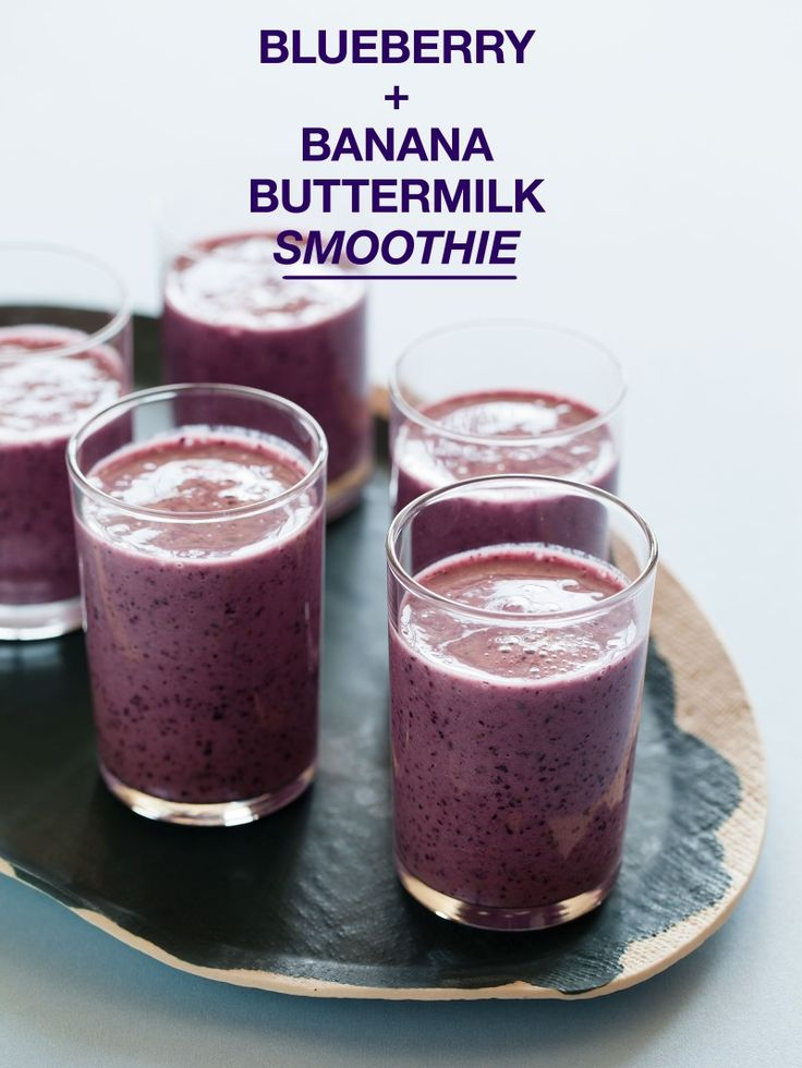 Blueberry and Banana Buttermilk Smoothie recipe. By Spoon Fork Bacon.