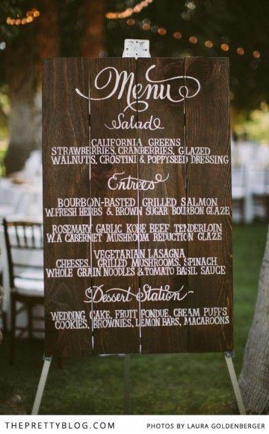 Menu Idea For Outdoor Wedding
