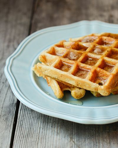 Cornmeal Waffles by Erica Lea | Eats | Pinterest