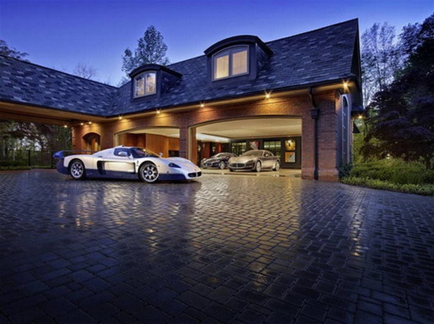 I can see this as part of the house design with a split for Drive through garage door