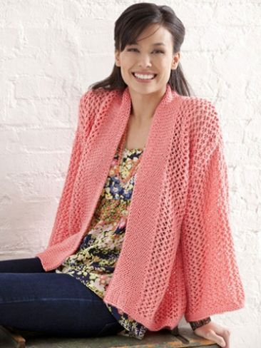 Bright and Breezy Kimono Yarn Free Knitting Patterns Crochet ...