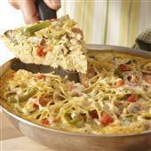 veggie spaghetti pie, a new twist on what my mom always used to make ...