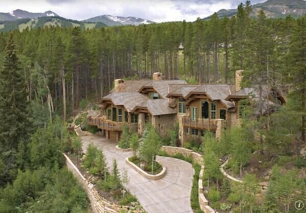 Mountain home dream house pinterest for Mountain dream homes