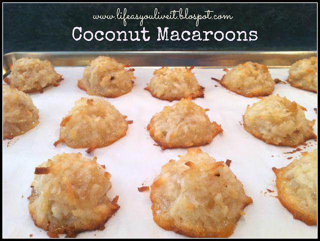 Coconut Macaroons | cookies to die for | Pinterest