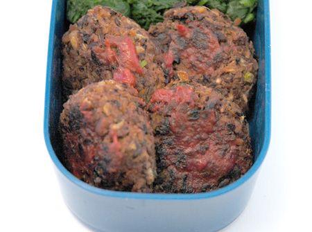 Black bean vegan mini-burgers