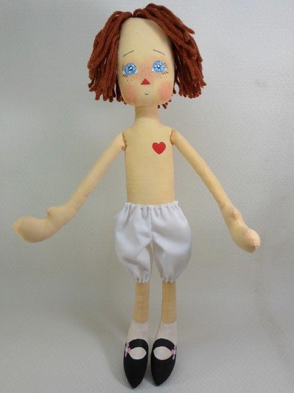 Мягкая ткань КУКЛЫ Тряпичная Энни ~ НЮ ANNIE голубыми глазами по ANNIEPRIMDOLLS
