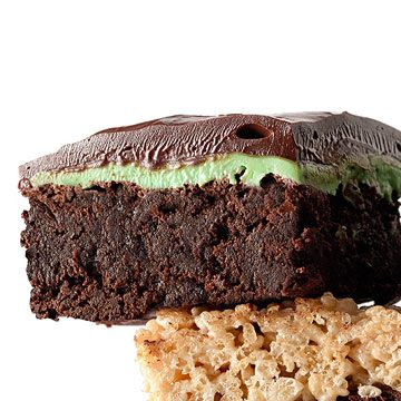 Choco-Mint Sandwich Brownies (Using Fudgy One-Pot Brownies Recipe)