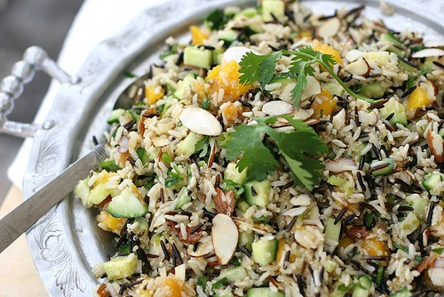 Mango-Cucumber Rice Salad. Use some agave nectar, agave, agave nectar ...