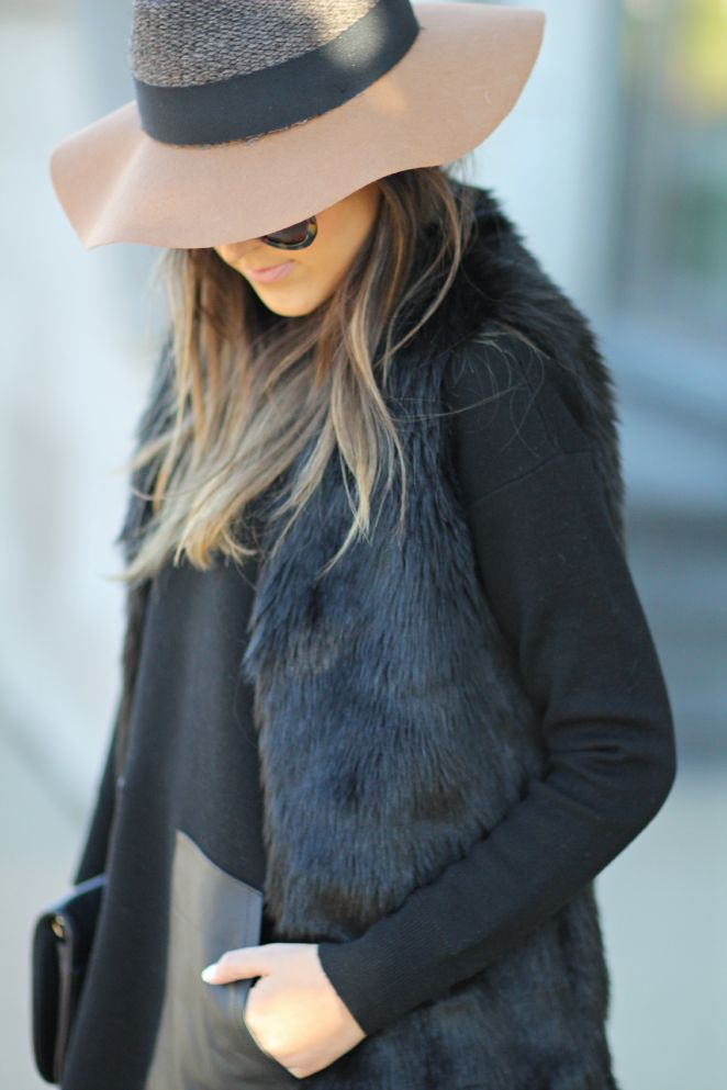 faux fur and leather. #style #inspiration #zappos