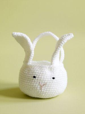 Free Crochet Pattern: Amigurumi Bunny Basket