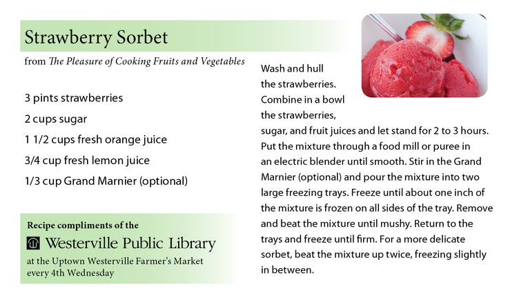 Recipe cards designed to market the library's cookbook collection, handed out at the Uptown Westerville Farmers Market. #recipes #recipecards #farmersmarket
