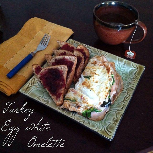 tomato, part skim mozzarella, low sodium turkey & egg white omelette ...