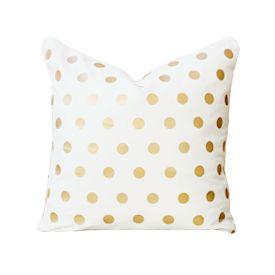 Gold Polka Dot Pillow Cover