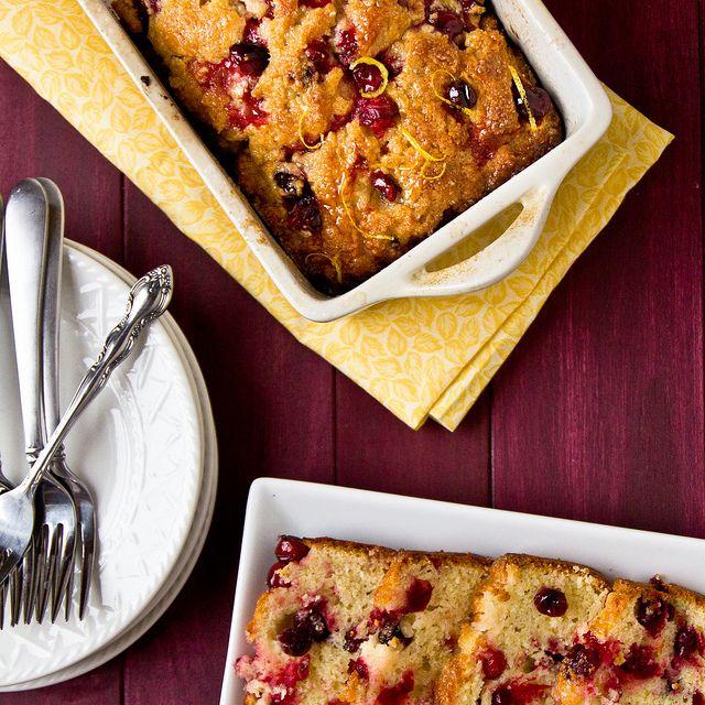 Glazed Lemon-Cranberry Loaf Cake | Recipes: Desserts: Cake/Cupcakes/P ...