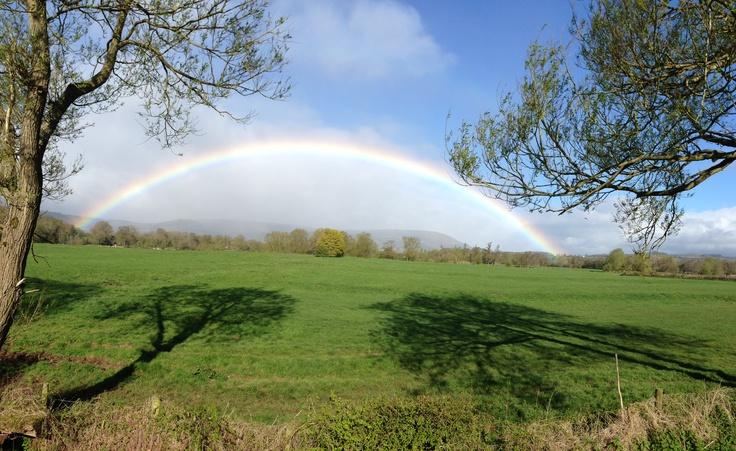 Rainbow in Abergavenny on 4th May