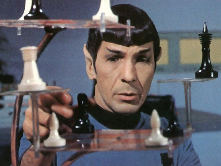 Spock playing chess spock pinterest - Multi level chess board ...