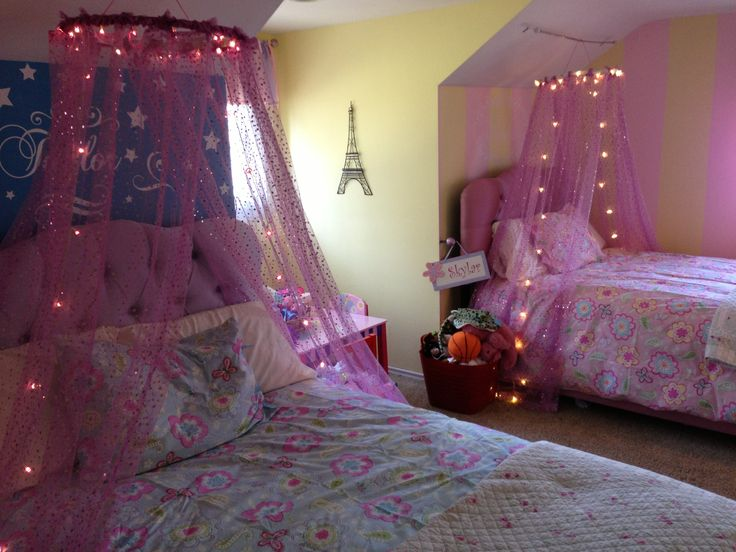 Little girls 39 beds diy canopy for the home pinterest for Diy princess bedroom ideas
