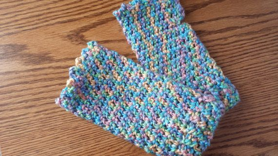 Crochet Multiple Colors : Crocheted Fingerless Gloves multicolor by softtotouch on Etsy, $17.00