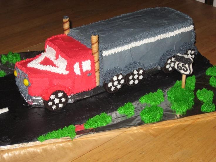 18 wheeler cake ideas