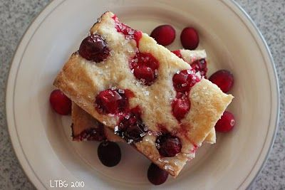 Cranberry cookie bars- made vegan with coconut oil came out awesome!!