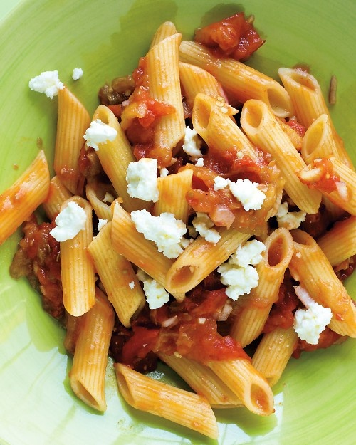 Pasta with Eggplant-Tomato Relish Recipe | Cooking | How To | Martha ...