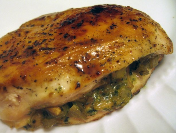 Chicken stuffed with Pesto and Mushrooms | Healthy recipes | Pinterest
