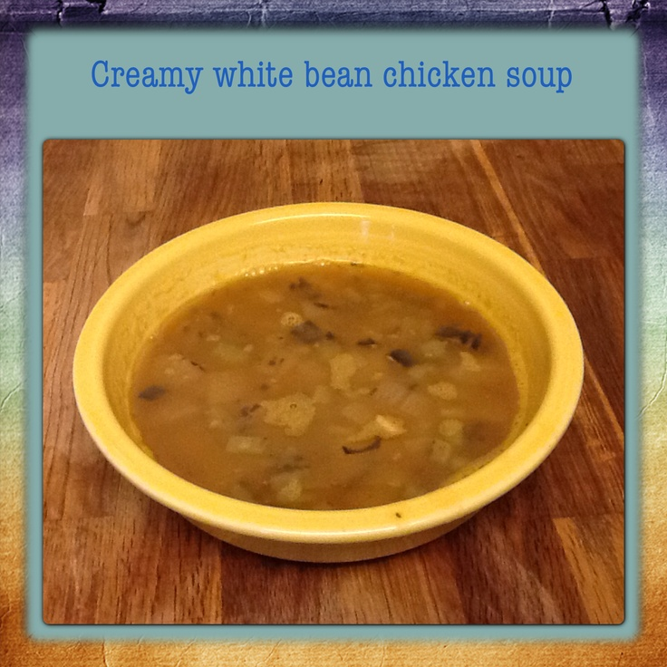 Quick and Creamy White Bean Chicken Soup | Healthy Bites | Pinterest