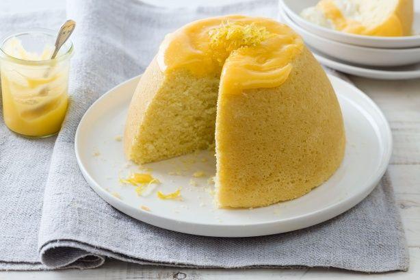 Lemon curd steamed pudding | Hot Desserts | Pinterest