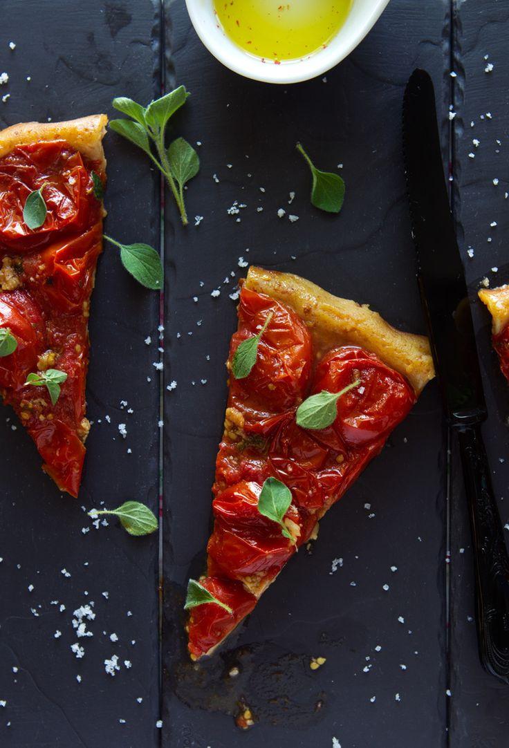Tomato Tarte Tatin | Tartes & Cie | Pinterest