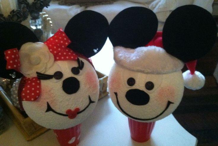 Micky & Minnie   Christmas Snowman Crafts   Pinterest