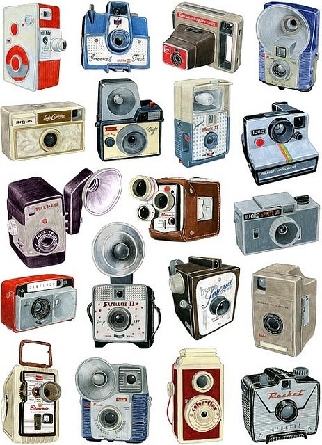 One day I'd like to own all of these old cameras.