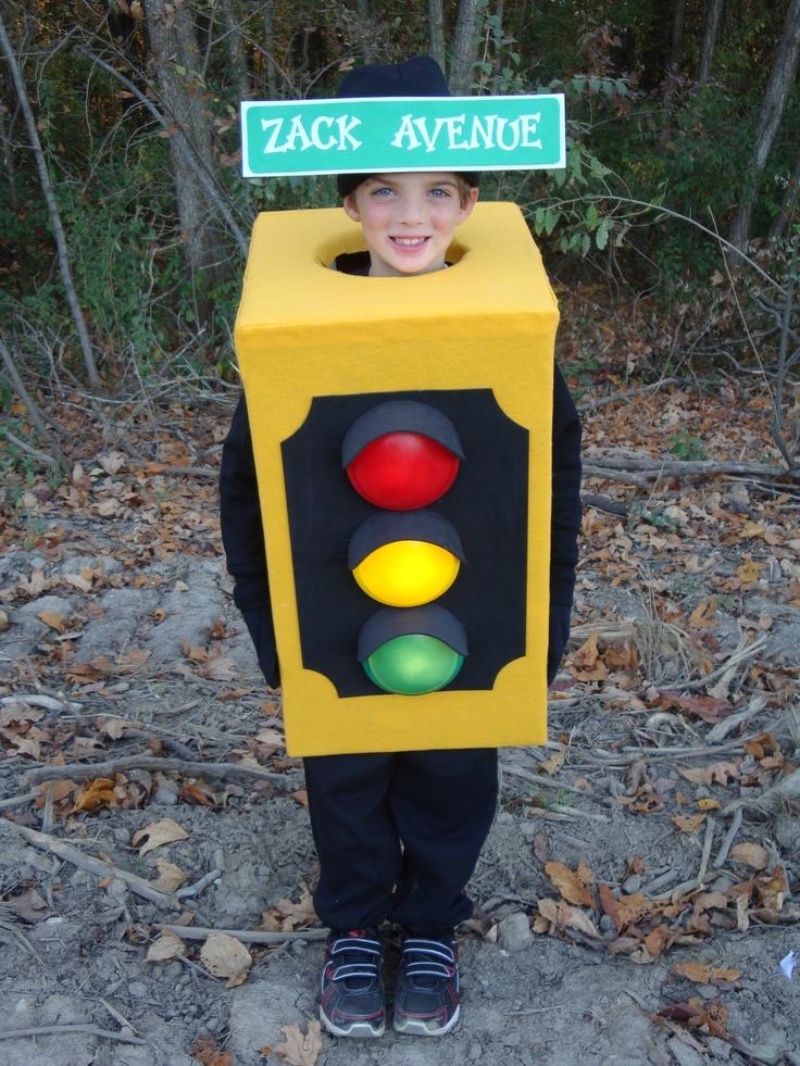 Street light stop light traffic boys halloween costume for Easy halloween costume ideas for boys
