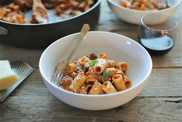 Creamy Rigatoni with Tomatoes and Sausage