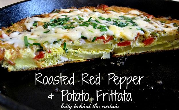 Lady Behind The Curtain - Roasted Red Pepper & Potato Frittata