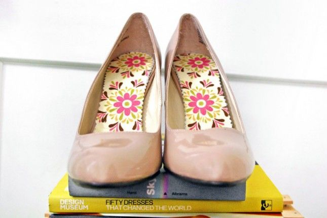 Custom Floral Insoles | 33 DIY Shoe Hacks